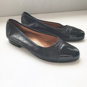 Quilted leather lambskin two tone Flat shoes 37 7
